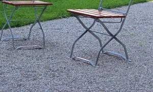 Gartenstuhl kippsicher